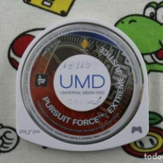 Videojuegos y Consolas: PLAY STATION PSP PURSUIT FORCE EXTREME JUSTICE SOLO UMD PAL ESPAÑA. Lote 271382623