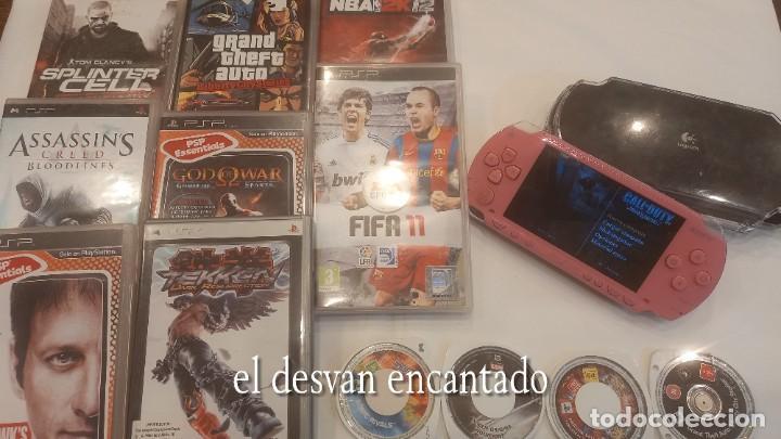 LOTE PSP. PLAYSTATION. CONSOLA + 14 JUEGOS. VER FOTOS. FUNCIONA PERFECTAMENTE (Juguetes - Videojuegos y Consolas - Sony - Psp)