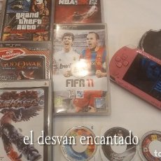 Videojuegos y Consolas: LOTE PSP. PLAYSTATION. CONSOLA + 14 JUEGOS. VER FOTOS. FUNCIONA PERFECTAMENTE. Lote 273943463