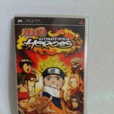 Videojuegos y Consolas: NARUTO ULTIMATE NINJA HEROES PSP COMPLETO. Lote 279393043