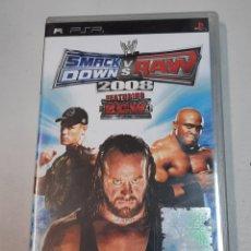 Videojuegos y Consolas: SMACK DOWN VS RAW. 2008. PSP. Lote 280229808