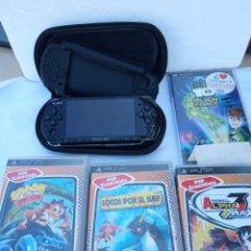 Videojuegos y Consolas: LOTE ANTIGUA PSP SONY CON 2 FUNDAS Y 7 JUEGOS. Lote 286060903