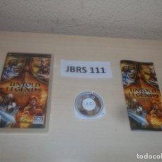 Videojuegos y Consolas: PSP - UNTOLD LEGENDS - LA HERMANDA DE LA ESPADA , PAL ESPAÑOL , COMPLETO. Lote 286872723
