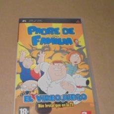 Videojuegos y Consolas: PADRE DE FAMILIA EL VIDEOJUEGO - JUEGO - PSP. Lote 287336198