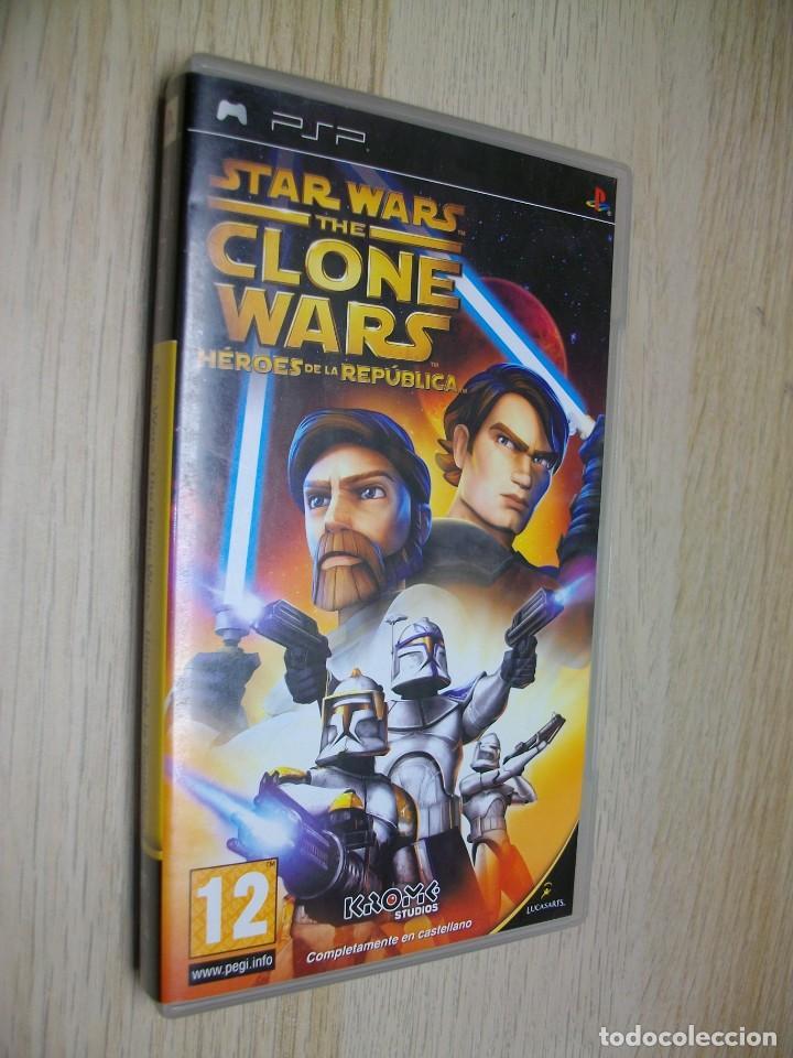 STAR WARS CLONE WARS HEROES REPUBLICA JUEGO DE SONY PSP (Juguetes - Videojuegos y Consolas - Sony - Psp)