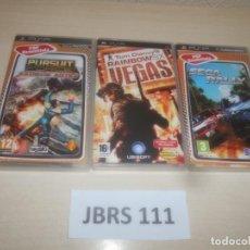 Videojuegos y Consolas: SEGA RALLY + RAIMBOW SIX VEGAS + PURSUIT FORCE. Lote 289686248