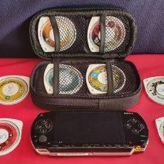 Videojuegos y Consolas: CONSOLA SONY PSP CON 8 JUEGOS SIN PROBAR. Lote 296823778