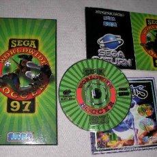 Videojuegos y Consolas: JUEGO SEGA SATURN WORDWIDE SOCCER 97 EN SU CAJA CON INSTRUCCIONES. Lote 20591260