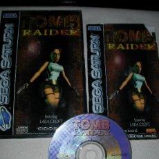 Videojuegos y Consolas: ANTIGUO JUEGO TOMB RAIDER LARA CROFT SEGA SATURN. Lote 29566718