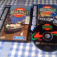 Videojuegos y Consolas: SEGA RALLY CHAMPIONSHIP JUEGO PARA SEGA SATURN PAL COMPLETO. Lote 133026154