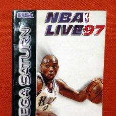 Videojuegos y Consolas: MANUAL SEGA SATURN NBA LIVE 97. Lote 40562004