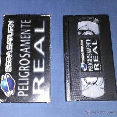 Videojuegos y Consolas: VHS SEGA SATURN PELIGROSAMENTE REAL. Lote 52491428