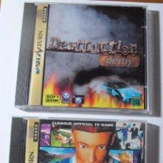 Videojuegos y Consolas: LOTE DE 2 JUEGOS PARA SEGA SATURN: DESTRUCTION DERBY Y J.LEAGUE JAP JAPAN. Lote 53010556