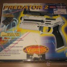 Videojuegos y Consolas: PISTOLA CON PEDAL PREDATOR 2 PARA SATURN Y PLAYSTATION COMPLETA CAJA INSTRUCCIONES. Lote 54217275