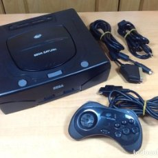 Videojuegos y Consolas: CONSOLA SEGA SATURN PAL COMPLETA CON SUS CABLES Y MANDO EN BUEN ESTADO. Lote 69078438