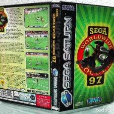 Videojuegos y Consolas: CAJA Y MANUAL SEGA WORLD WIDE SOCCER 97 SEGA SATURN. Lote 78885457