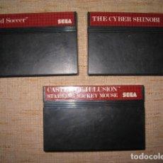 Videojuegos y Consolas: TRES JUEGOS DE LA SEGA MICHEY SHINOBI. Lote 95233091