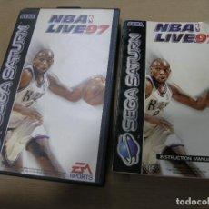 Videojuegos y Consolas: CAJA E INSTRUCCIONES NBA LIVE 97 BALONCESTO SEGA SATURN. Lote 99994235