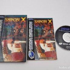 Videojuegos y Consolas: JUEGO COMPLETO SHINOBI X SEGA SATURN PAL.MUY BUSCADO. JEU SPIEL GAME RARO. Lote 101615303