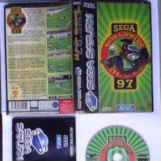Videojuegos y Consolas: JUEGO SEGA SATURN WORLDWIDE SOCCER 97 BOXED COMPLETO CAJA Y MANUAL CIB PAL R6891. Lote 109601811