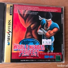 Videojuegos y Consolas: JUEGO SEGA SATURN VERSION JAPONESA - WORLD HEROES PERFECT - COMO NUEVO -. Lote 124456271