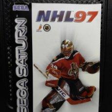 Videojuegos y Consolas: MANUAL NHL 97 SEGA SATURN. Lote 127209091