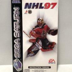 Videojuegos y Consolas: MANUAL NHL 97 SEGA SATURN. Lote 142219030