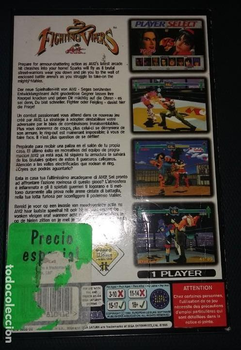 Videojuegos y Consolas: Juego Sega Saturn FIGHTING VIPERS, COMPLETO - Foto 3 - 148829950