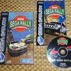 Jeux Vidéo et Consoles: JUEGO SEGA SATURN - SEGA RALLY - PAL ESPAÑA - COMPLETO. Lote 168858012