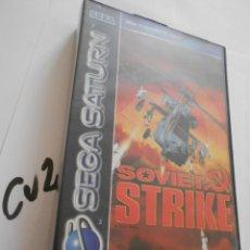 Videojuegos y Consolas: ANTIGUO JUEGO SEGA SATURN - SOVIET STRIKE. Lote 172912197