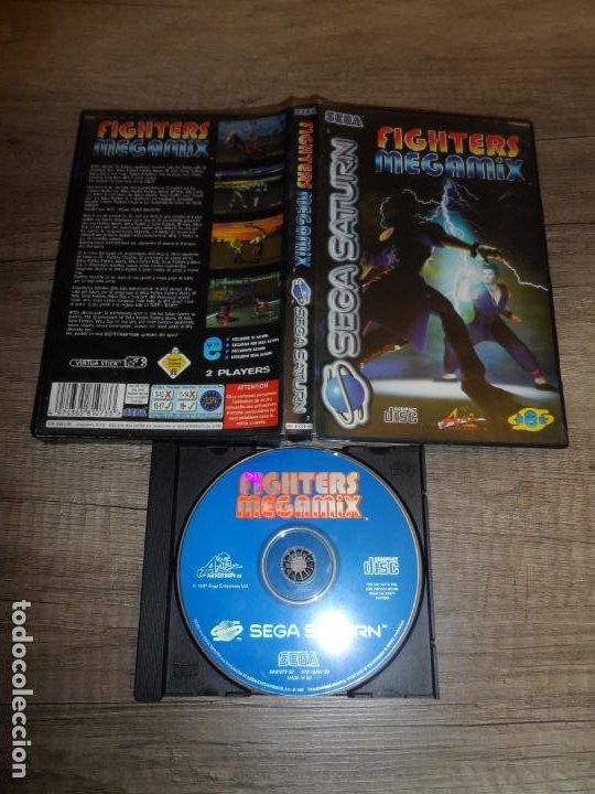 SEGA SATURN FIGHTERS MEGAMIX (VIRTUA FIGHTER) PAL ESP SIN MANUAL (Juguetes - Videojuegos y Consolas - Sega - Saturn)