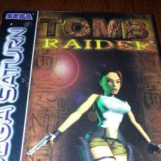 Videojogos e Consolas: TOMB RAIDER SEGA SATURN COMPLETO. Lote 194143693