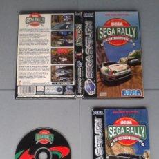 Videojuegos y Consolas: JUEGO SEGA SATURN SEGA RALLY CHAPIONSHIP COMPLETO CAJA Y MANUAL BOXED CIB PAL R10392. Lote 197907117