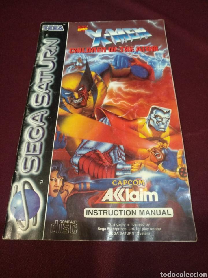 MANUAL SEGA SATURN, X-MEN (Juguetes - Videojuegos y Consolas - Sega - Saturn)