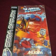 Videojuegos y Consolas: MANUAL SEGA SATURN, X-MEN. Lote 198712478