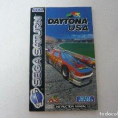 Videojuegos y Consolas: DAYTONA USA - MANUAL / SEGA SATURN / VER FOTOS / RETRO VINTAGE. Lote 199689710