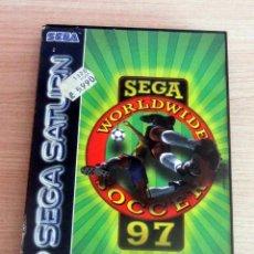 Videojuegos y Consolas: WORLDWIDE SOCCER 97 CON SU CAJA E INSTRUCCIONES EN ESPAÑOL EN BUEN ESTADO. Lote 209744178