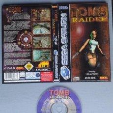 Videojuegos y Consolas: SEGA SATURN TOMB RAIDER INCLUYE CAJA SIN MANUAL BOXED CIB PAL!! R11632. Lote 220812991