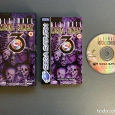 Videojuegos y Consolas: ULTIMATE MORTAL KOMBAT SEGA SATURN COMPLETO PAL ESPAÑA - UNICO EN TODOCOLECCION. Lote 221435986