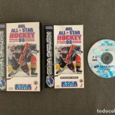 Videojuegos y Consolas: NHL HOCKEY 98 SEGA SATURN COMPLETO PAL ESPAÑA - UNICO EN TODOCOLECCION. Lote 221436228