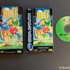 Videojuegos y Consolas: VIRTUAL GOLF SEGA SATURN COMPLETO PAL ESPAÑA - UNICO EN TODOCOLECCION. Lote 221436263