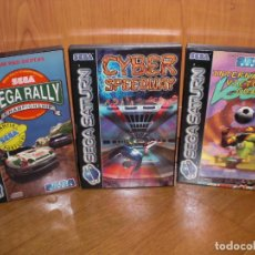 Jeux Vidéo et Consoles: LOTE DE 3 JUEGOS COMPLETOS SEGA SATURN: CYBER SPEEDWAY, SEGA RALLY, INT. VICTORY GOAL. Lote 221466551
