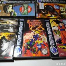 Videojuegos y Consolas: LOTE/ PACK 5 CAJAS DE JUEGOS DE SEGA SATURN ( ORIGINALES Y BUEN ESTADO , VER FOTOS!). Lote 221969966