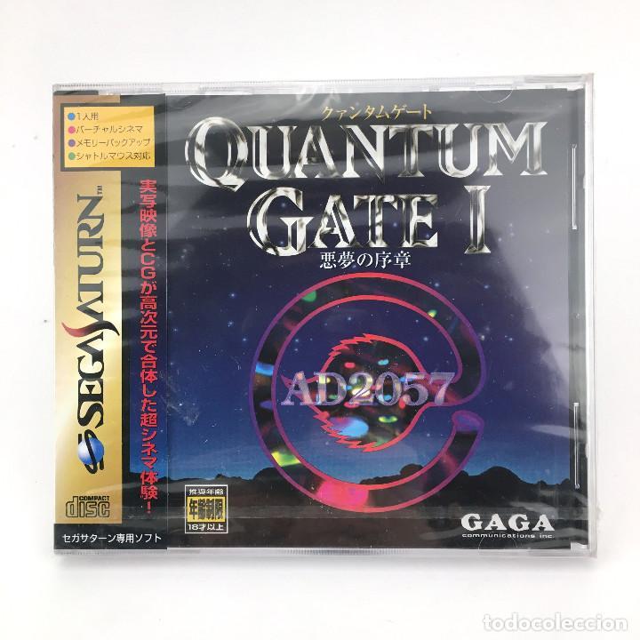 QUANTUM GATE PRECINTADO. SEGA SATURN / HYPERBOLE STUDIOS JAPAN RETRO NIB CON SPINE CARD. JUEGO NUEVO (Juguetes - Videojuegos y Consolas - Sega - Saturn)
