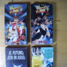 Videojuegos y Consolas: 4 CINTA VHS NINTENDO SEGA SATURN STREET FIGHTER VIDEO PROMOCIONAL CONSOLA JUEGO. Lote 235529165