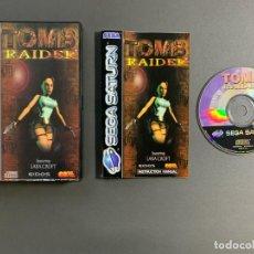 Videojuegos y Consolas: TOMB RAIDER SEGA SATURN COMPLETO PAL ESPAÑA VERSIÓN CAJA DE PLÁSTICO. Lote 241391415