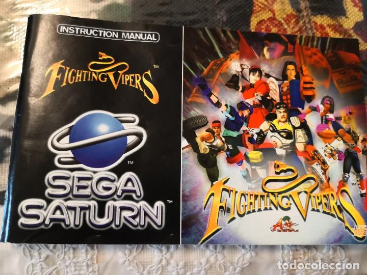 CARATULA Y MANUAL DE INSTRUCCIÓNES JUEGO SEGA SATURN FIGHTING VIPERS (Juguetes - Videojuegos y Consolas - Sega - Saturn)