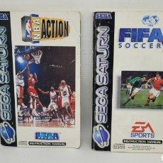 Videojuegos y Consolas: LOTE INSTRUCCIONES SEGA SATURN NBA ACTION Y FIFA SOCCER 96. NO MEGADRIVE. NO NINTENDO.. Lote 265497194