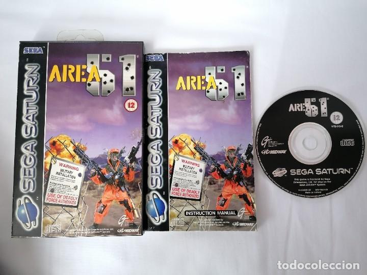 SEGA SATURN AREA 51 (Juguetes - Videojuegos y Consolas - Sega - Saturn)