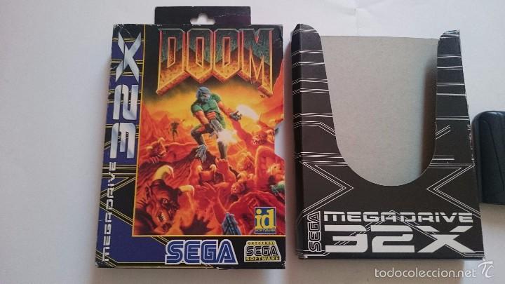 Videojuegos y Consolas: JUEGO Y CAJA DOOM SEGA MEGA DRIVE 32X PAL - Foto 2 - 55224380